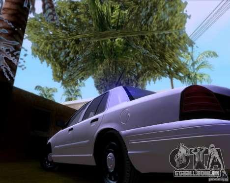 Ford Crown Victoria 2009 Detective para vista lateral GTA San Andreas