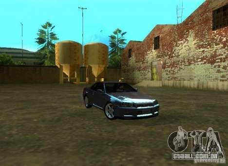 Nissan Skyline GTR-34 para GTA San Andreas esquerda vista