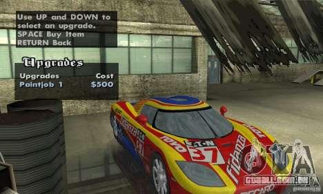 Koenigsegg CCX (v1.0.0) para GTA San Andreas vista traseira