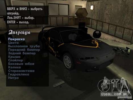 Mitsubishi Eclipse 1998 Need For Speed Carbon para GTA San Andreas vista traseira