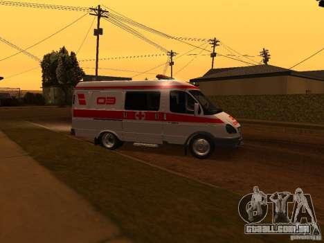Ambulância de gazela para GTA San Andreas esquerda vista