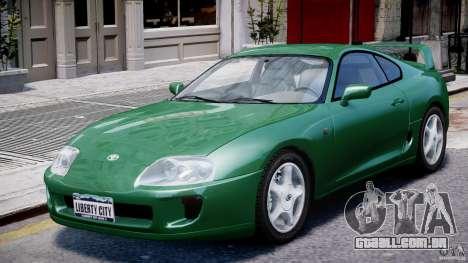 Toyota Supra MKIV 1995 v2.0 Final para GTA 4 vista lateral