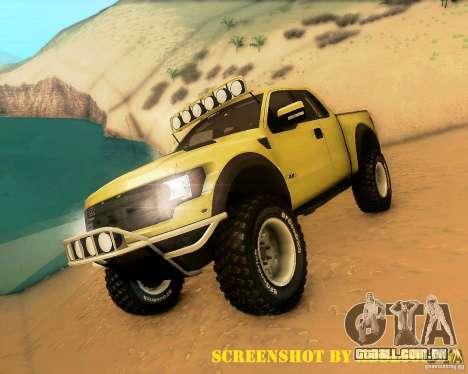 Ford F150 2011 SVT RapTor para GTA San Andreas interior