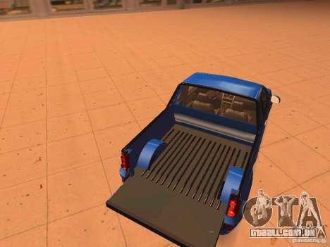 Nissan NP200 para GTA San Andreas vista interior