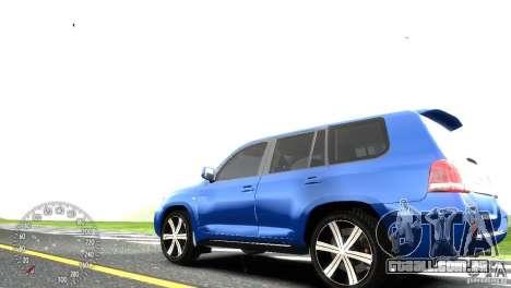 Toyota Land Cruiser 200 RESTALE para GTA 4 traseira esquerda vista