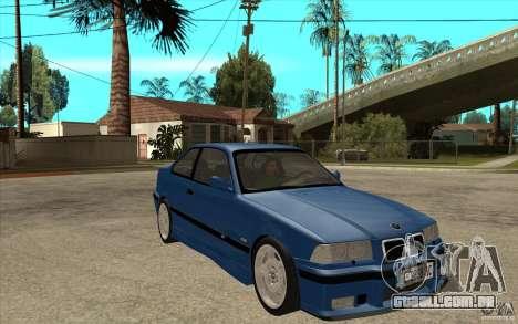 BMW M3 E36 1997 para GTA San Andreas vista traseira