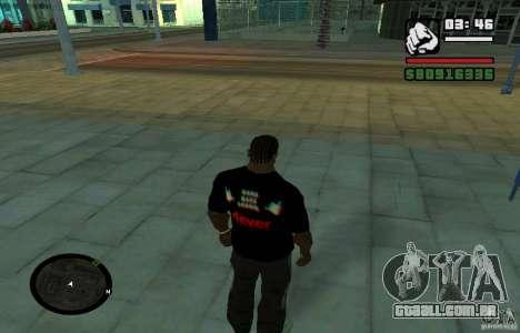T-shirt baixo difícil. para GTA San Andreas segunda tela