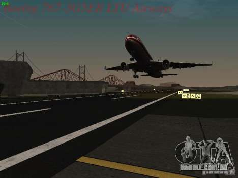 Boeing 767-3G5ER LTU Airways para GTA San Andreas vista inferior
