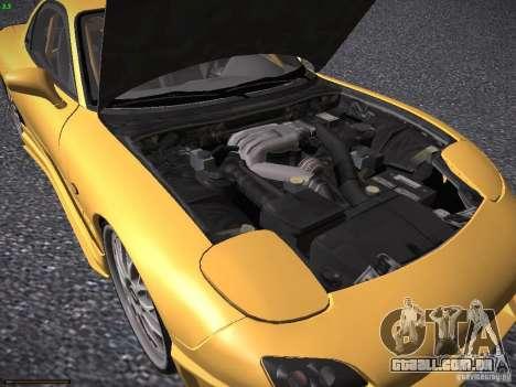 Mazda RX-7 FD3S C-West Custom para GTA San Andreas vista interior