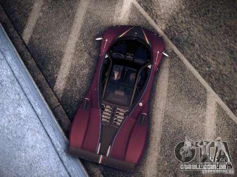 Pagani Zonda Tricolore 2010 para GTA San Andreas esquerda vista