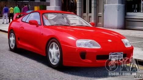Toyota Supra MKIV 1995 v2.0 Final para GTA 4 esquerda vista