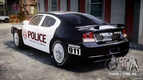 Dodge Charger SRT8 Police Cruiser para GTA 4 vista direita