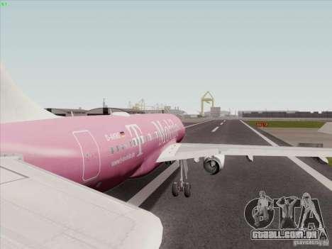 Airbus A319 Spirit of T-Mobile para GTA San Andreas vista direita