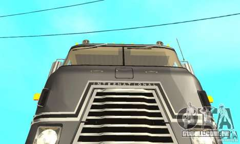 International Transtar II 1975 para GTA San Andreas vista interior