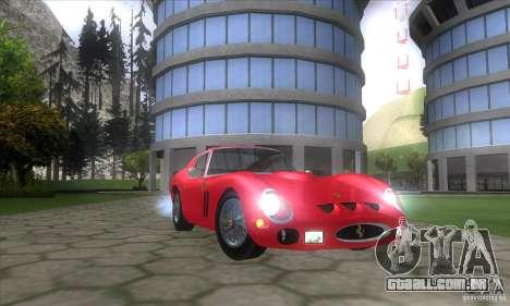 Ferrari 250 GTO 1962 para GTA San Andreas vista traseira