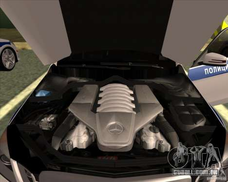 Mercedes-Benz E63 AMG W212 para GTA San Andreas vista interior