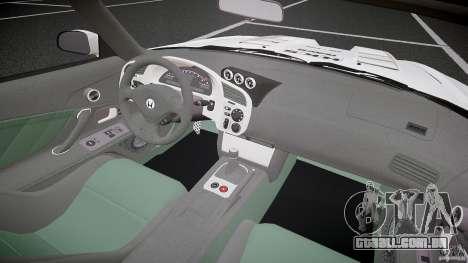 Calma Honda S2000 Tuning 2002 3 pele para GTA 4 vista de volta