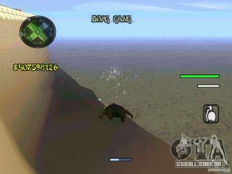 HUD Convenient and easy BETA para GTA San Andreas por diante tela