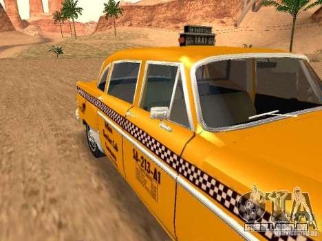 Checker Marathon Yellow CAB para GTA San Andreas vista direita