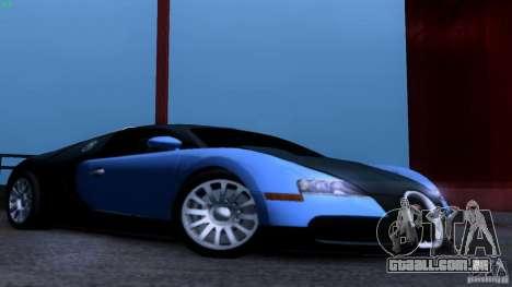 Bugatti Veyron 16.4 para GTA San Andreas vista interior