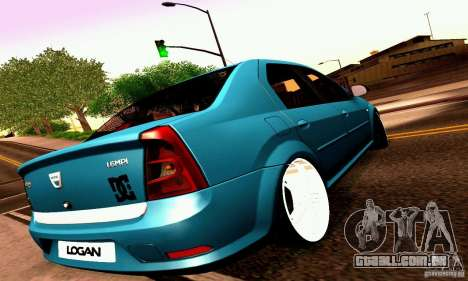 Dacia Logan 2008 para GTA San Andreas vista inferior