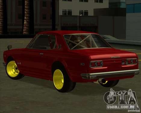 Nissan Skyline GTR 2000 para GTA San Andreas esquerda vista
