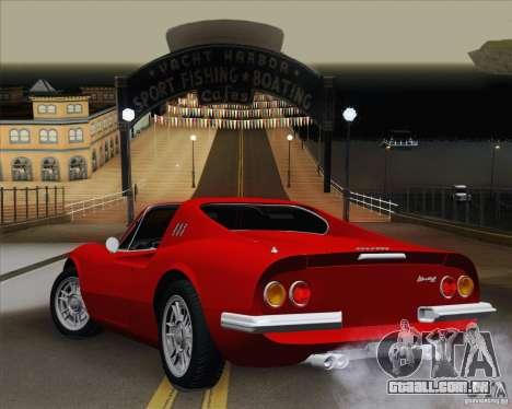 Ferrari 246 Dino GTS para GTA San Andreas esquerda vista