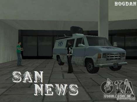 SFnews ou a oportunidade de dar uma entrevista para GTA San Andreas