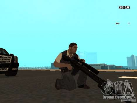 No Chrome Gun para GTA San Andreas terceira tela