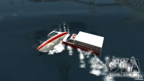 Ambulance boat para GTA 4 traseira esquerda vista