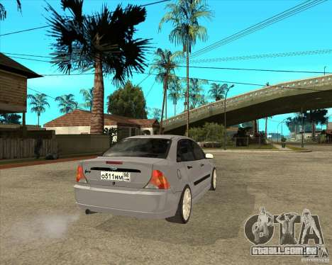 Ford Focus Sedan para GTA San Andreas traseira esquerda vista