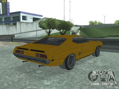 Ford Torino 70 para GTA San Andreas esquerda vista