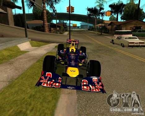 Red Bull RB8 F1 2012 para GTA San Andreas vista direita