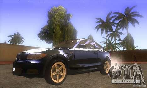 BMW 135i (E82) para GTA San Andreas vista traseira