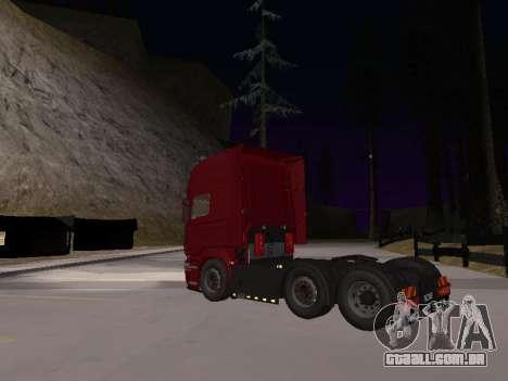 Scania 460 para GTA San Andreas vista traseira