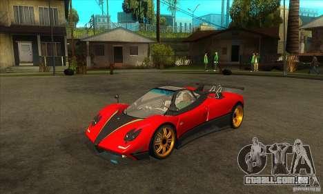 Pagani Zonda Tricolore V1 para GTA San Andreas