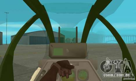 AH-1 super cobra para GTA San Andreas vista interior