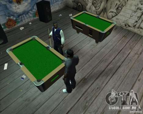 Nova mesa de bilhar para GTA San Andreas segunda tela