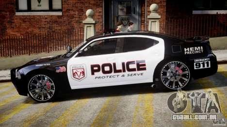 Dodge Charger NYPD Police v1.3 para GTA 4 traseira esquerda vista