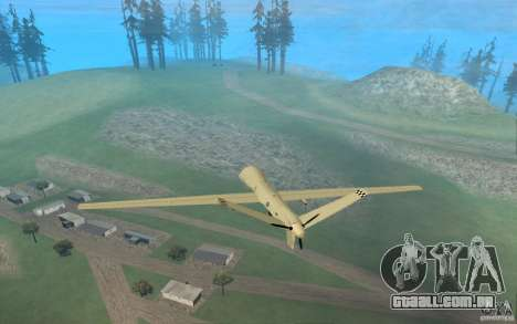 RQ9 Predator para GTA San Andreas esquerda vista