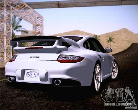 Porsche 911 GT2 RS 2012 para GTA San Andreas esquerda vista