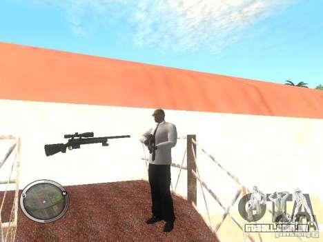 Sniper - Forest Camouflage para GTA San Andreas por diante tela