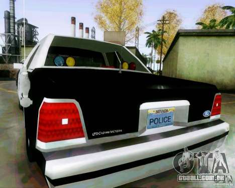 Ford Crown Victoria LTD 1991 LVMPD para GTA San Andreas traseira esquerda vista