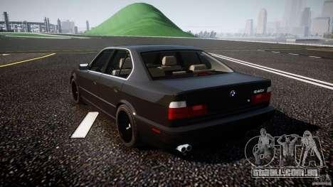 BMW 5 Series E34 540i 1994 v3.0 para GTA 4 traseira esquerda vista