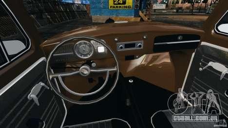 Volkswagen Fusca Gran Luxo v2.0 para GTA 4 vista de volta