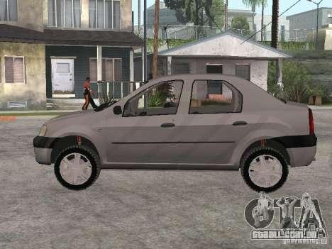 Dacia Logan 1.6 para GTA San Andreas traseira esquerda vista
