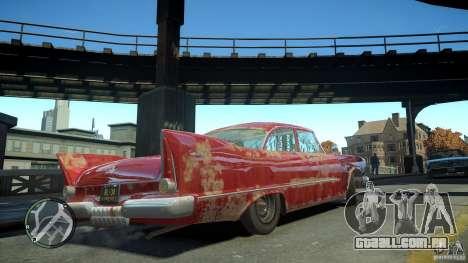 Plymouth Savoy Club Sedan 1957 para GTA 4 vista de volta