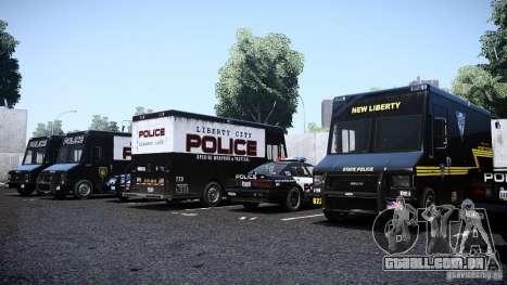 Boxville Police para GTA 4 vista direita
