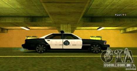 Sentinel Police LV para GTA San Andreas traseira esquerda vista