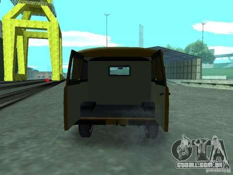 UAZ 3909 para GTA San Andreas vista interior